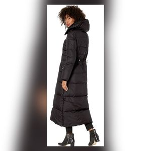 Cole Haan women stand collar essential down coat.